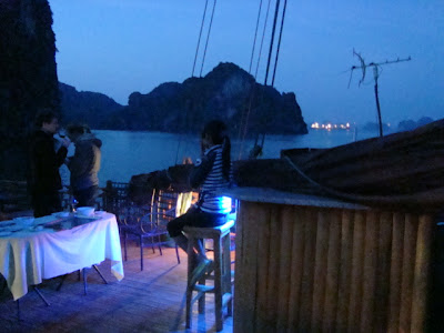 Baha de Halong Vietnam por la noche