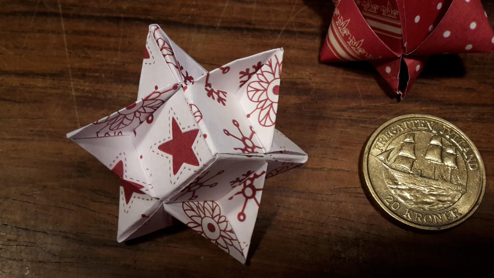 flettet julestjerne 12 strimler