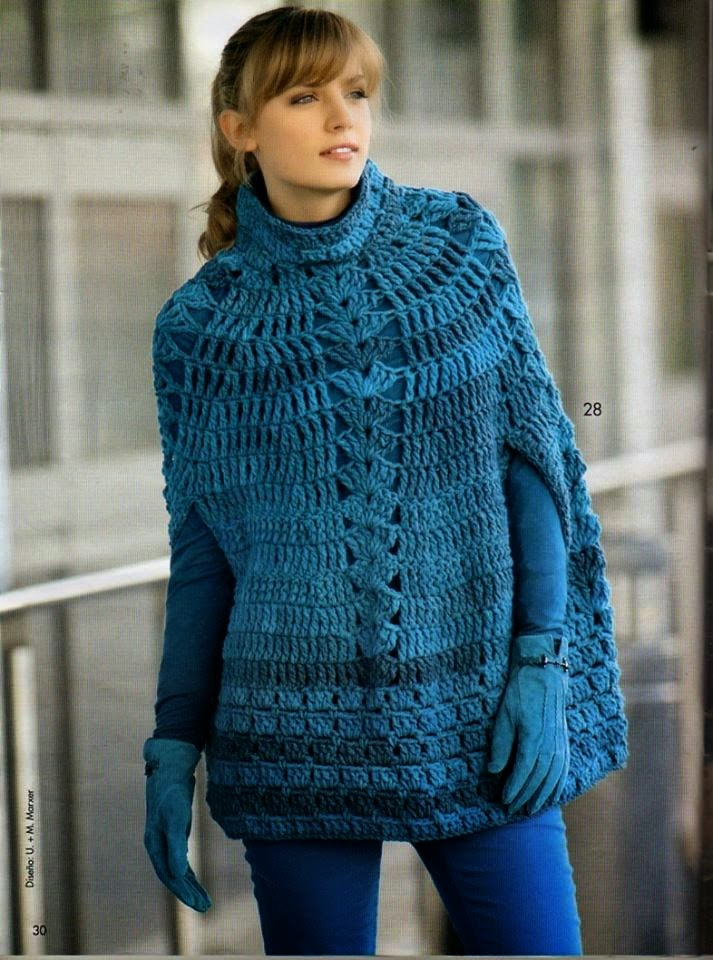 Crochet Patterns to Try: Crochet Stunning Fall Cape - FREE Crochet ...