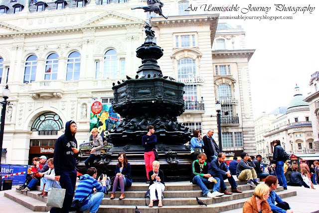 Travel Photos Marjolyn Lago indulging the beauty of Piccadilly Circus London