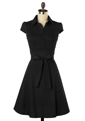 Short Sleeves Gorgeous Black Dress
