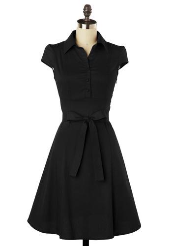 Short Sleeves Gorgeous Black Dress