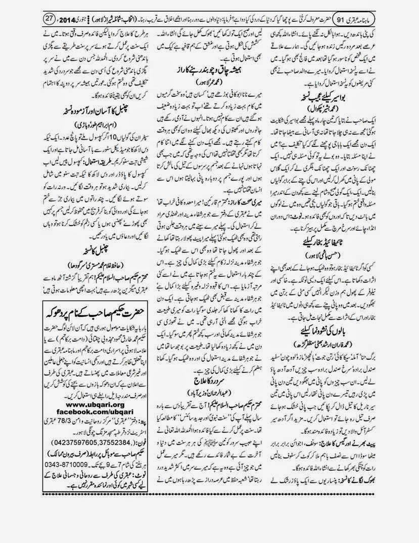 page 27 ubqari january 2014