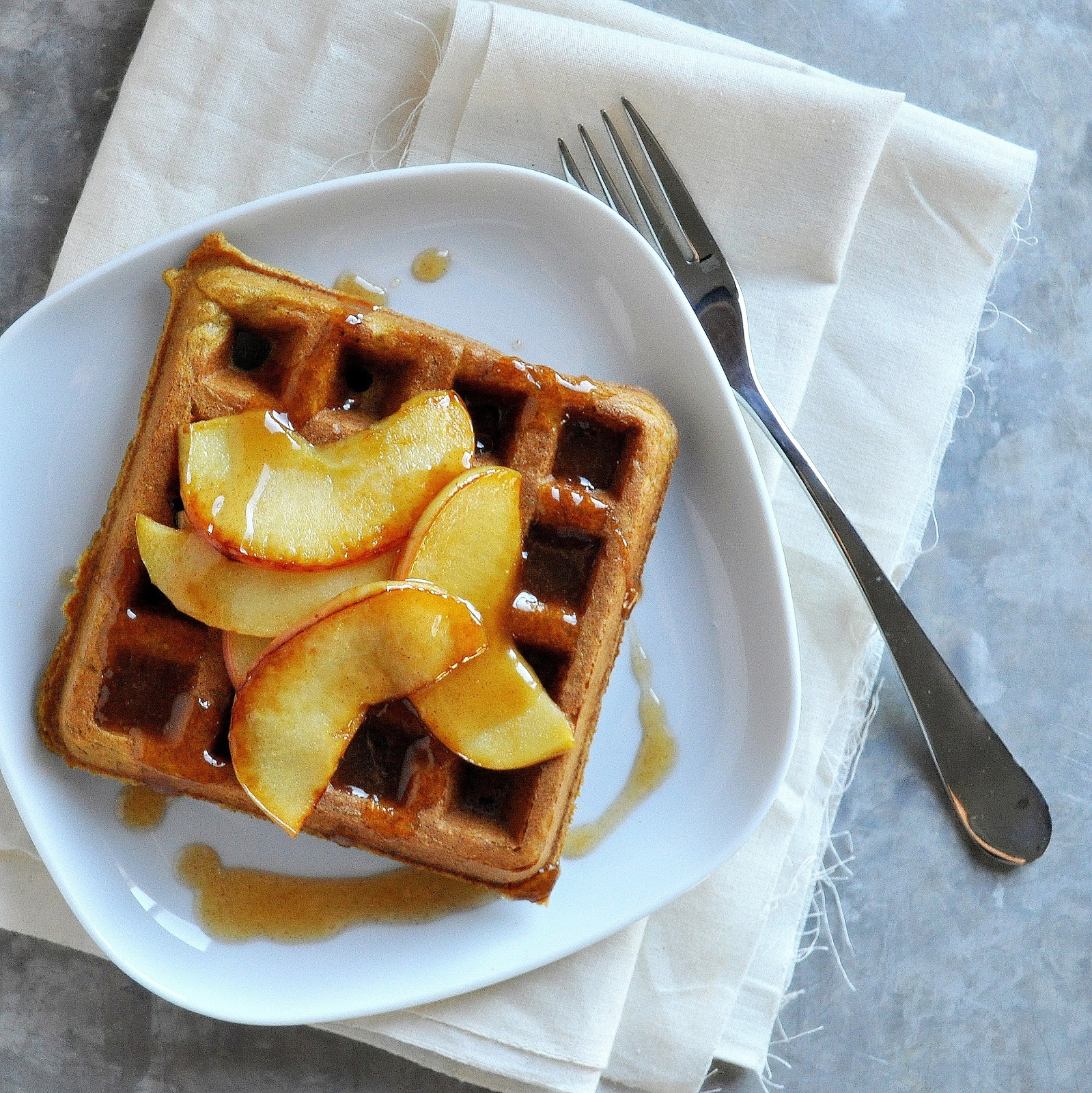 ... BOX: Pumpkin Waffles with Caramelized Apples & Apple Cider Syrup
