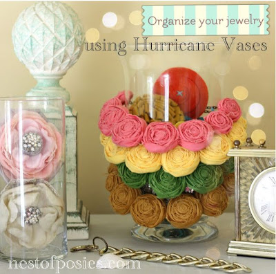 Organize with Hurricane Vases