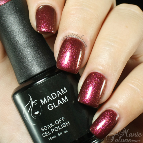 Madam Glam Gel Polish 026 Golden Red Swatch