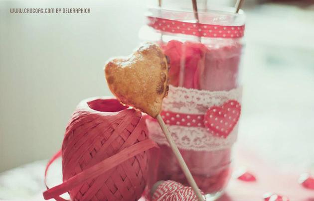 Pie pops san Valentín