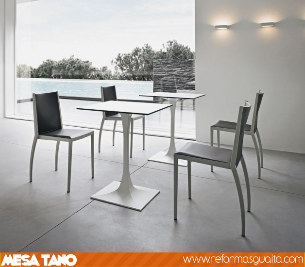 Mesa tano para la cocina y para la terraza reformas guaita - Mesa cocina cuadrada ...