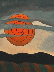 Arthur Dove - detail from Red Sun 1935.