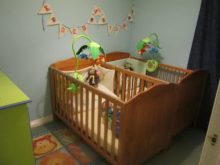 Twins first bedroom