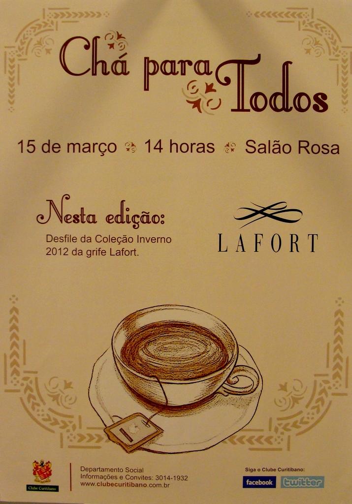 Famosos Elis Cabanilhas Glaser: Chá da tarde com moda no Clube Curitibano KU39