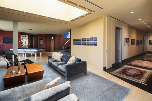 Photo of hallway and the rest of the penthouse interiors as seen from the living room