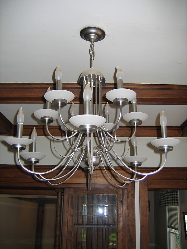 our tiny oak park bungalow the dining room fixture and tiffany shades. Black Bedroom Furniture Sets. Home Design Ideas