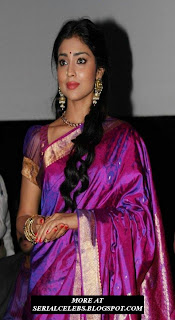 Shriya Saran in silk saree
