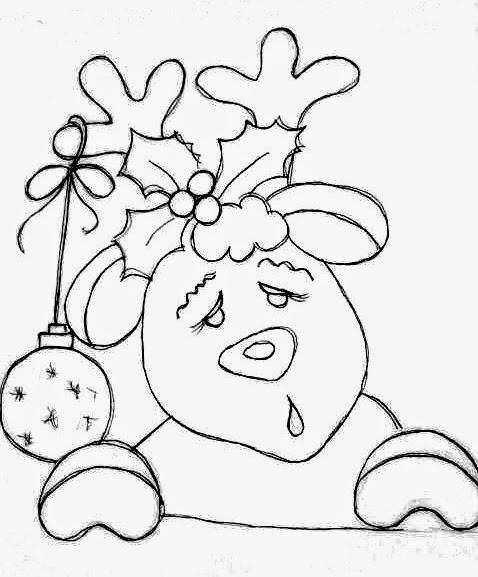 desenho de rena para pintar