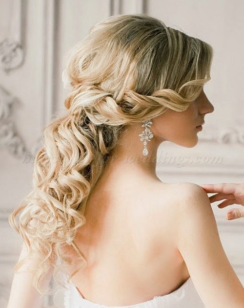 wedding hairstyles for medium length hair half up half down wedding ideas. Black Bedroom Furniture Sets. Home Design Ideas
