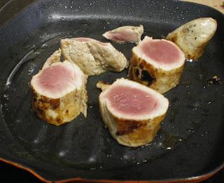 solomillo de cerdo plancha,queso, calabacín