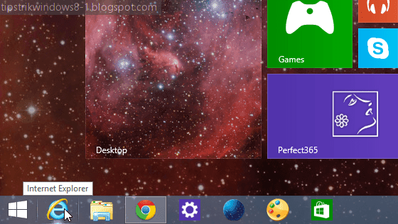 cara menghilangkan taskbar pada start screen windows 8.1