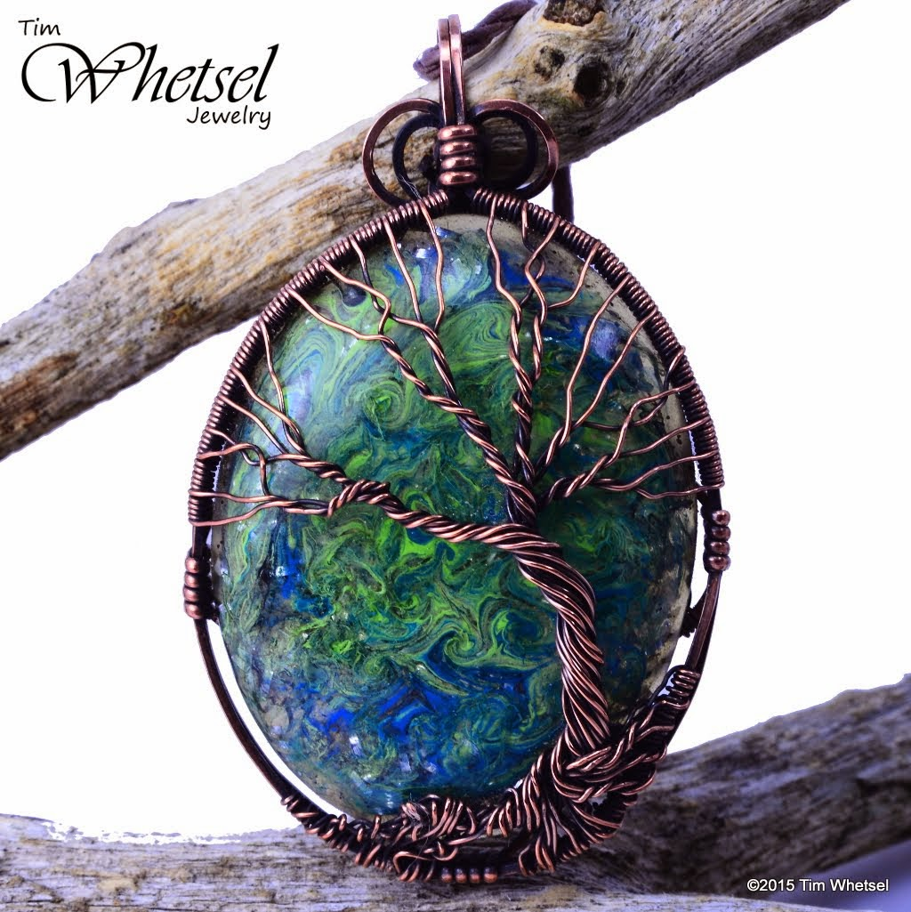 Wire wrapped jewelry by tim whetsel blue green swirl orgonite the focal in the center is an orgonite cabochon that i made as well inside the orgonite cabochon i put mixed metals and beach sand from the gulf coast of aloadofball Choice Image