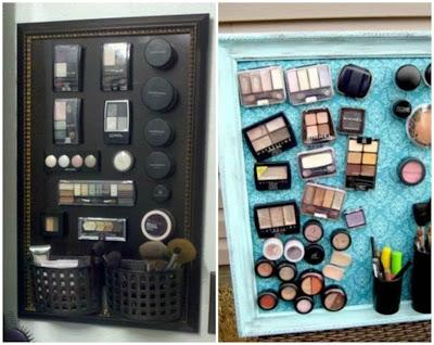 Organizar o banheiro A maquiagens
