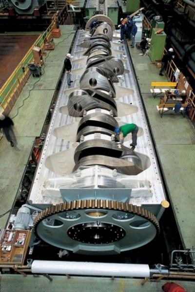 El motor diésel más grande del mundo