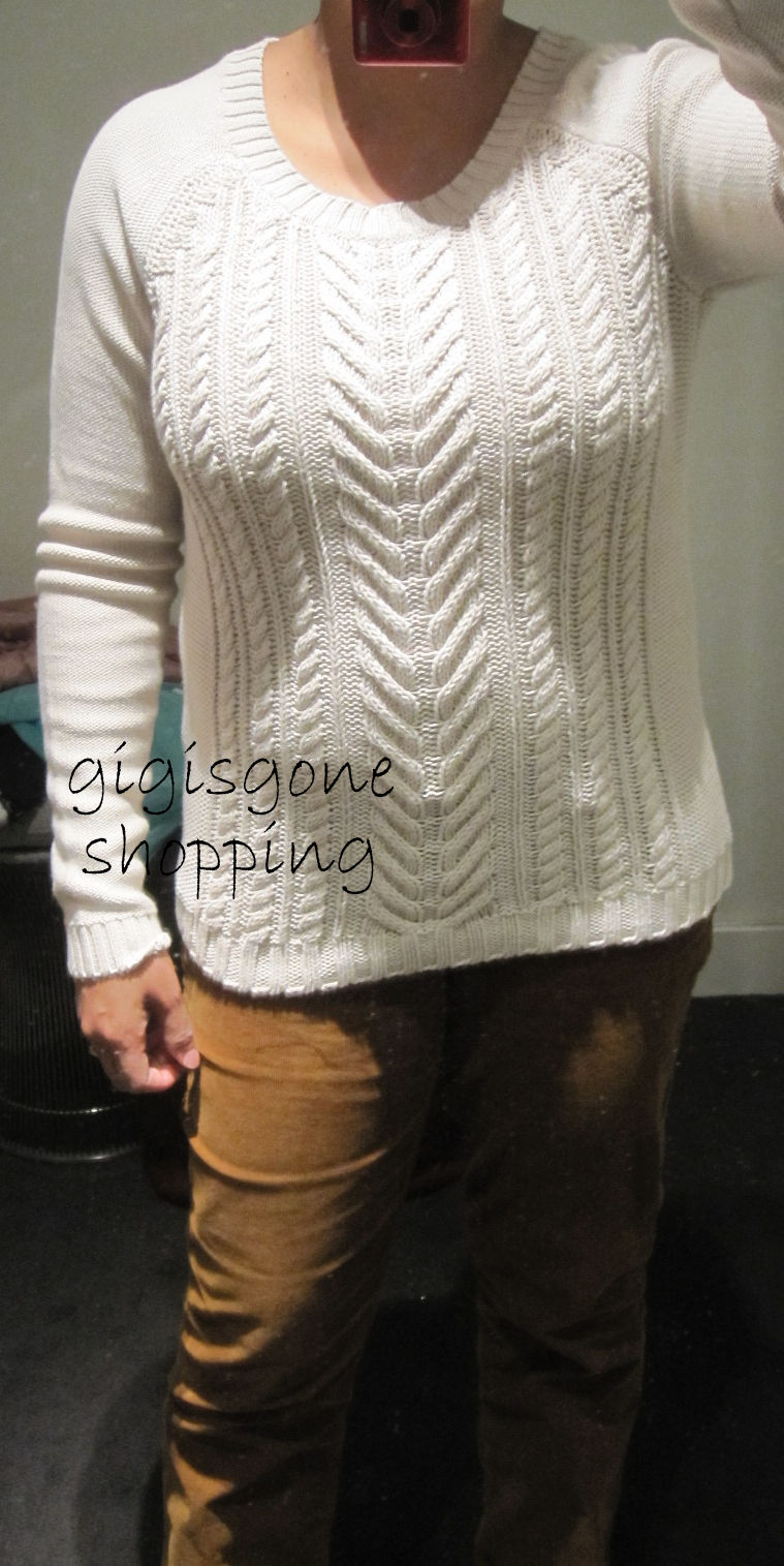 J Crew - cotton cable sweater - Gigi's Gone Shopping
