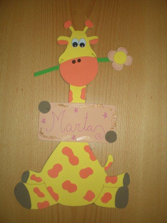 Dibujos en foami jirafas imagui - Dibujos en goma eva ...