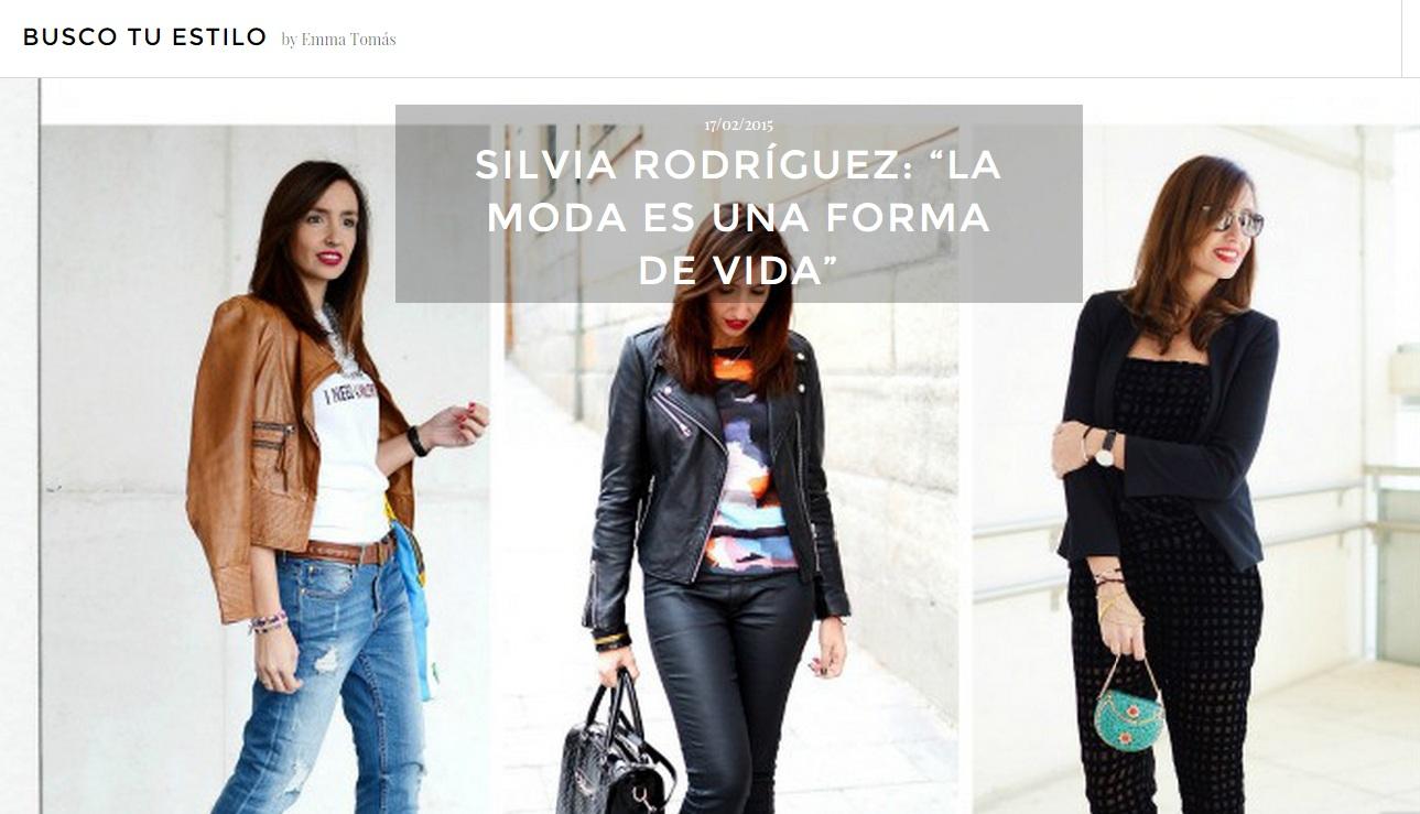 Entrevista de el blog de silvia para Busco tu estilo