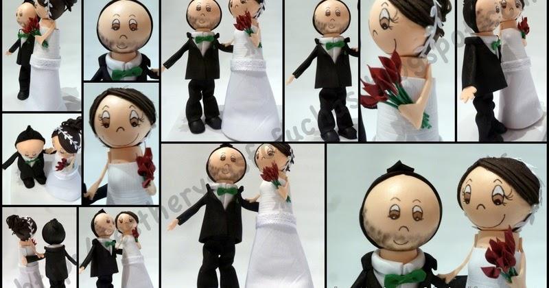 Esther y sus fofuchas mini fofu marta y dani tarta de boda - Colgadores marta ...