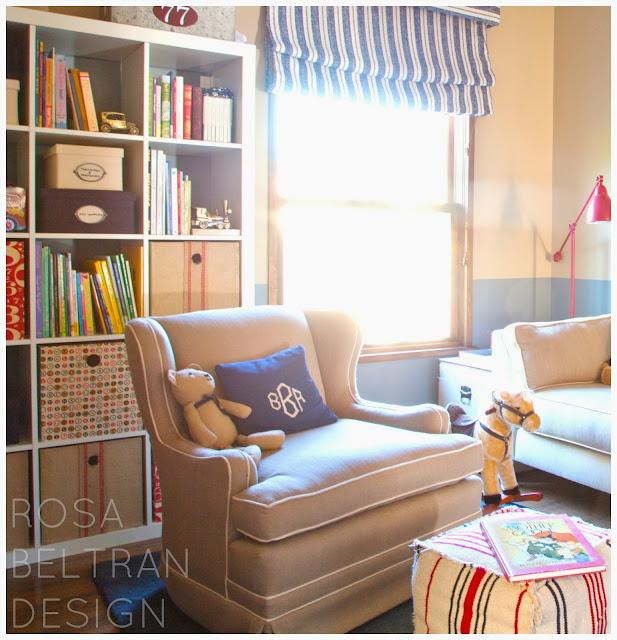 Rosa beltran design vintage chair turned nursery rocker