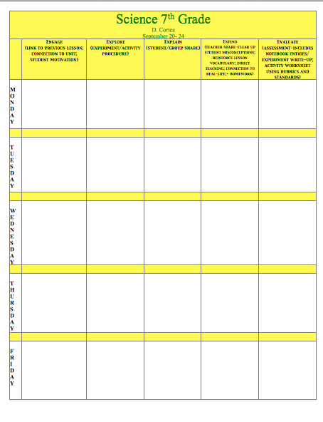 Oh my science teacher july 2013 for Ohio department of education lesson plan template
