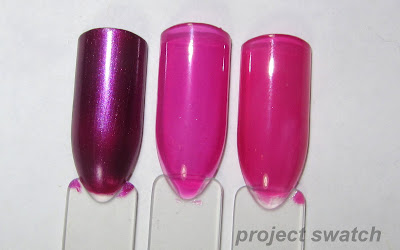 swatches - 1- L'oreal The Mystic's Future, 2- Zoya Paloma, 3- OPI Houston We Have a Purple