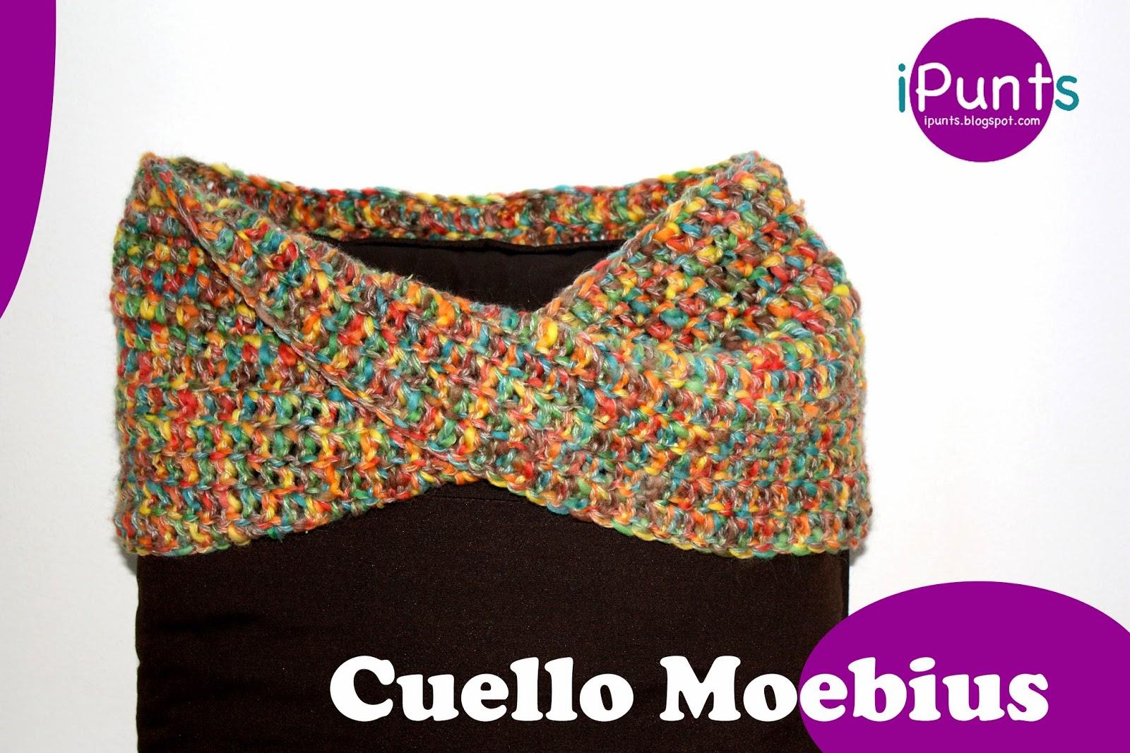 moebius cuello crochet ganchillo patrón