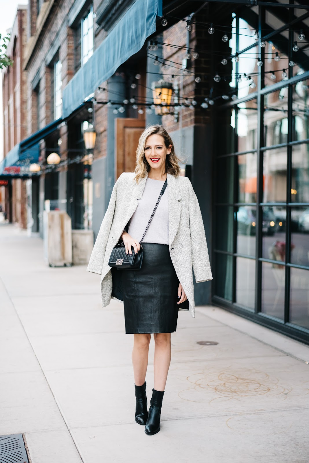leather pencil skirt see wear see