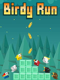 Screenshots of the Birdy Run for java mobile, phone.