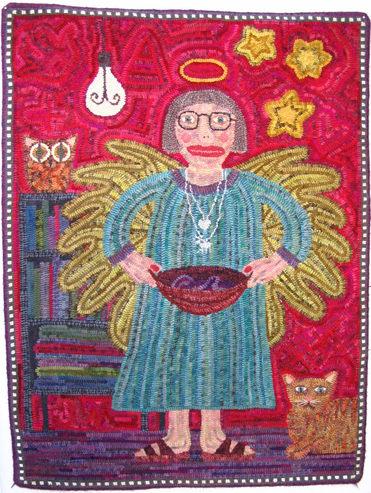 Fish Eye Rugs: another angel gets her wings...