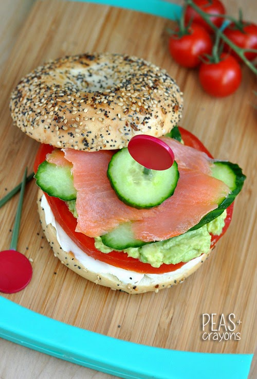 Everything Bagel with Lox and Avocado