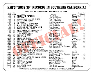 KHJ Boss 30 No. 65 - September 28, 1966