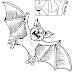 Desenhos de Morcegos para Colorir