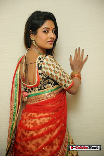 Actress Esha Ranganath  Pictures in Half Saree at Tasyaah Awareness Fashion Walk  0082