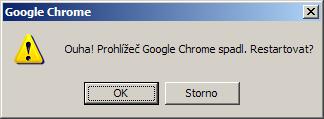 pád Chrome při ukládání