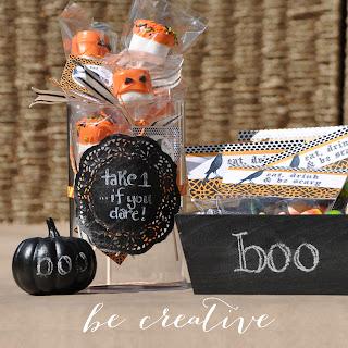 blackboard paint tutorial for Halloween on Creative Bag's blog