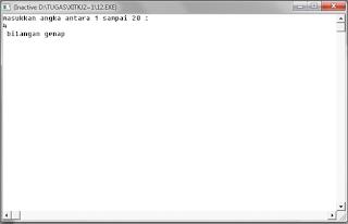 Program pascal Menentukan bilangan genap atau ganjil dalam angka-angka dadu