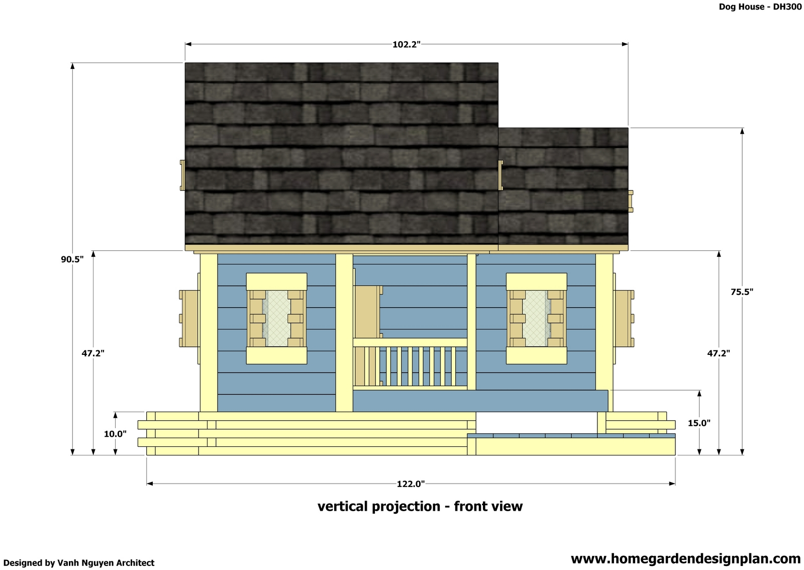 Trash Can Storage Shed Plan 2 Dog House Plans Free Wooden