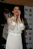 Surveen Chawla in Transparent WHite Top looks Amazing Beautiful Promoting Hate Story 2 in Mumbai
