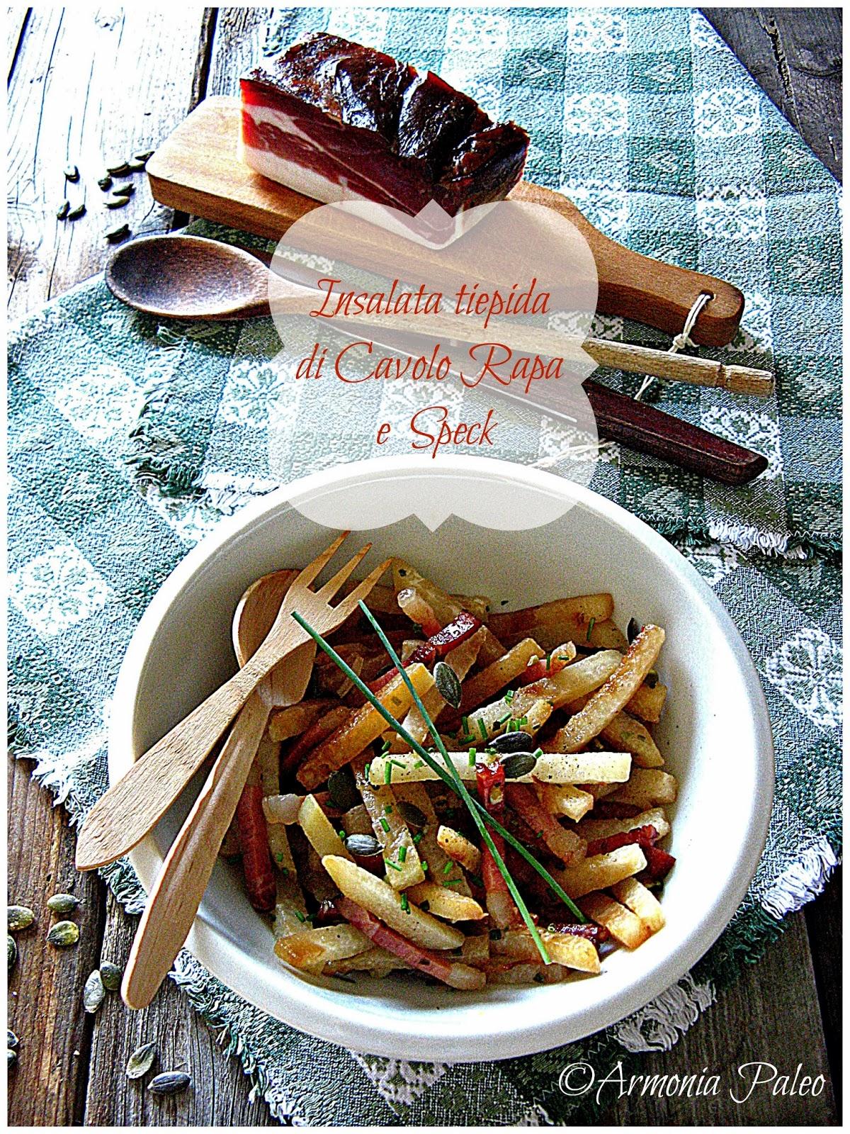 insalata tiepida di cavolo rapa e speck
