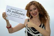 25 Millones de visitas, 58.000 suscriptores y 400 vídeos en youtube.com/BeatrizMontero
