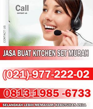 Ilustrasi perhitungan biaya pembuatan kitchen set jual for Biaya bikin kitchen set