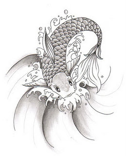 Koi Fish Tattoo Designs Sketch Collection 13