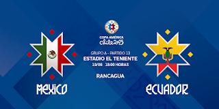 México vs Ecuador en vivo 2015